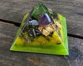 Mini Pyramid Open Intention Orgone EMF Protection - New Moon Eclipse in Pisces Pour