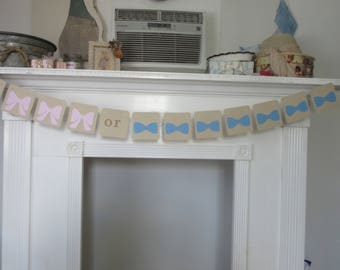 Gender Reveal Bows or Bowties
