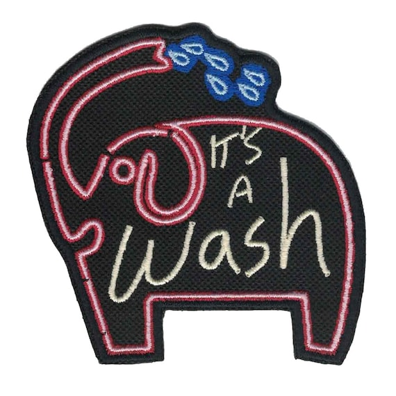 The Its a Wash car wash sign iron on patch is a must-have for Steven Universe fans! Greg, Stevens dad, lives inside his van at the Its a Wash car wash. Show your support for Greg with this awesome Its a Wash iron on patch! The car wash sign features a logo with a cute, bathing elephant.