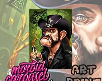 Motorhead Lemmy Kilmister Portrait A3 Giclee Art Print
