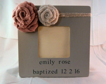 Girl Baptism gift for girl baptism decorations picture frame, baptism personalized baptism gift from godparents