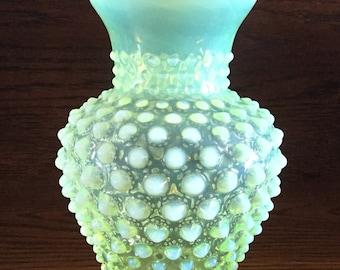 Vintage Fenton Hobnail Topaz Large Mouthed (Top of) Vase