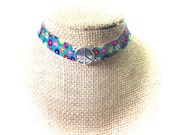 Chokers,Flower Chokers,Flower Power Chokers,Stretchy chokers,70's chokers,Hippie Chokers,Gifts for her,Gifts for teens,70's Theme,Christmas