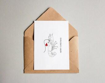 SALE Lobster Christmas Card