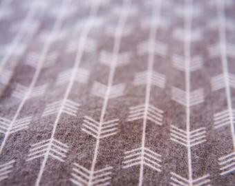 Handmade Grey Herringbone Pattern Fitted Flannel Cot Sheet