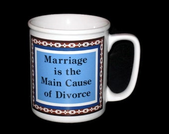 Vintage Humor Mug, Marriage Humor Mug, Collectible Mug, Collectible Cup, Vintage Marriage Cup, Humor Marriage Cup, Funny Mug, Funny Cup