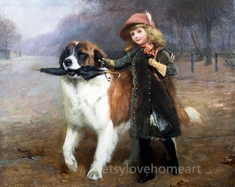 Off to school - Charles Burton Barber high quality hand-painted oil painting reproduction for child room decor or child gift