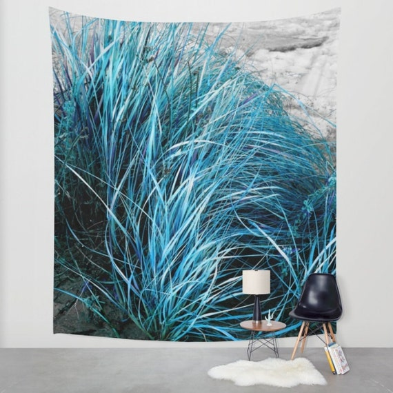 Outside Beach Wall Decor: Beach Brush Wall Tapestry Indoor/Outdoor Art/Wall