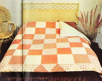 patchwork duvet cover sewing pattern pdf instructions How to make a patchwork duvet cover double bed 200x200cm pdf instant download