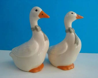 Cute Vintage Duck Salt And Pepper Shakers, Salt And Pepper, Retro Duck Decor, Vintage Salt And Pepper Shakers, Duck.