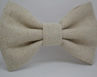 Natural Linen bow tie - Men's bow tie - Child bow tie - Baby bow tie - Natural linen - Wedding - Rustic - Gift for him - Gift for men