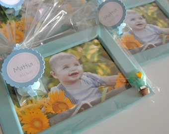 Baptism Favor box Photo Frame balloon