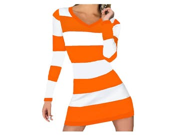 Orange + White Stripe Spirit Dress