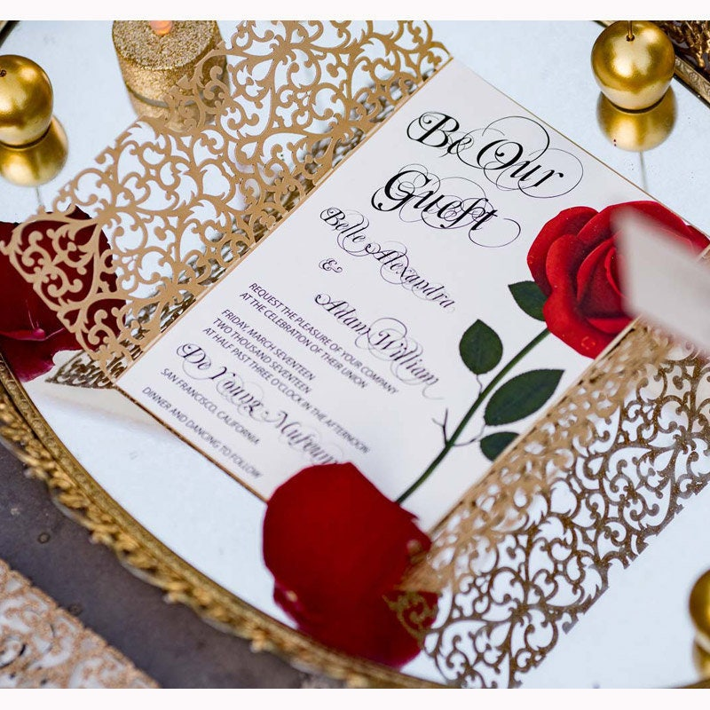 Gatefold Invitations as Cool Sample To Create Lovely Invitations Sample