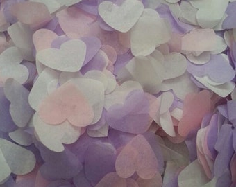 1500 pieces handmade biodegradable wedding confetti- pale pink lilac and white