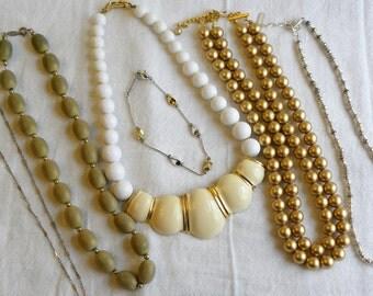 Napier bib necklace, Napier jewelry lot, signed lot, napier bracelet, silver napier necklace, beaded napier necklace, napier chain necklace