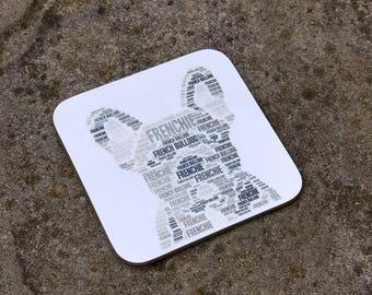 French Bulldog Coaster - Frenchie Gift