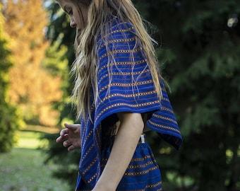 Maya Blue and Brown Skirt