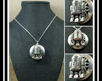 R2-D2 Essential Oil Diffusing Locket Necklace/ Star Wars Jewelry/ Aromatherapy Locket Necklace/ EO Locket/ EO Diffuser