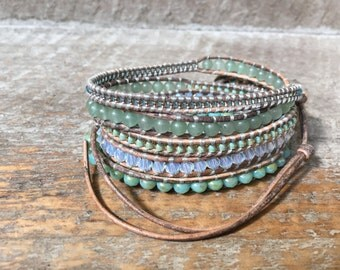 C. C. Beaded Wrap Bracelet
