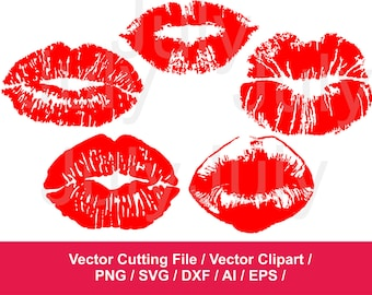 Lips svg file, Lips Clipart, Kiss Clip Art , Kiss Cutting Files, Kiss svg, Lips Mark Clip Art, Lipstick Clipart, SVG, EPS, DXF, png