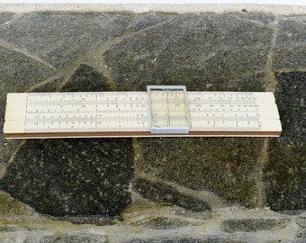 Vintage Slide Rule / logarithmic Scale Bulgaria 1970's Slide Rule / Engineering Tool Old Architect Gift / Analog Computer