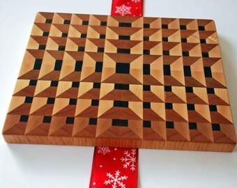 3d hardwood pocket end grain butcher block cutting board