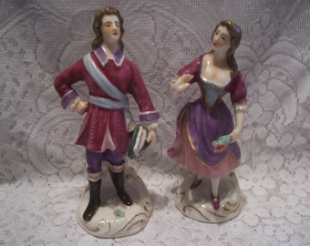 Porcelain Man and Woman Figurines