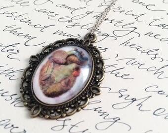 Vintage anatomy heart pendant necklace