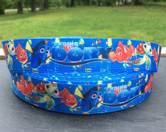 Finding Dory Ribbon, Dory Ribbon, Nemo Ribbon, Dory and Nemo Ribbon, Grosgrain Ribbon