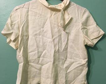 Michelle Blouse- white 50s blouse