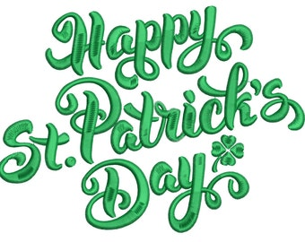 Happy St. Patricks Day (5x7) - Embroidery Machine Design