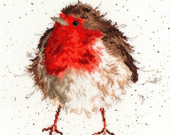 Bothy Threads Jolly Robin Counted Cross Stitch Kit - 26x26cm