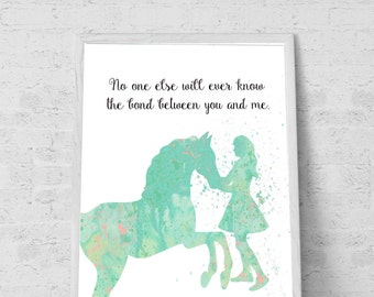 Gift for Horse lover room decor for Girls  mint room decor horse wall art Minty room decor- Printable File