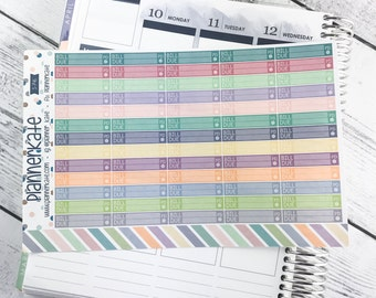 S-746 || EC MIX - Bill Due Stickers for Planner - Mixed Monthly EC Colors (65 Removable Matte Stickers)