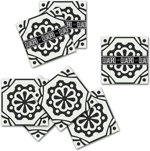 vinyl floor tile sticker floor decals carreaux ciment encaustic testino tile sticker pack in. Black Bedroom Furniture Sets. Home Design Ideas