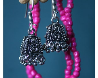 Muria, earrings of Tibetan silver