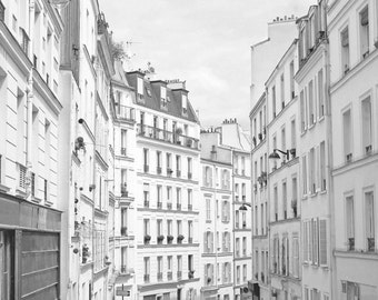 Black and White, Paris Photography, Wall Art Print, Paris Photo, Montmartre, Paris Print, Parisian Decor, Architecture Art, Europe Picture,