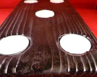 Burnt wood tee light holder 5 holder