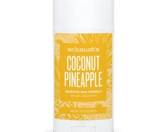 Coconut Pineapple (Sensitive Skin Stick, 3.25 oz.) - Schmidt's Natural Deodorant