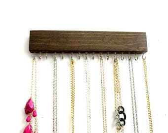 Necklace Storage Wall, Jewelry Storage, 16 Hooks, Many Colors, Jewelry Organizer, Necklace Holder