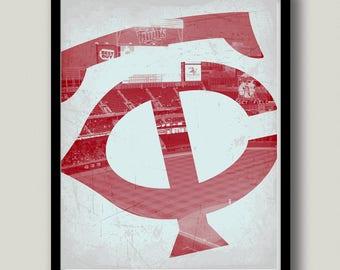Minnesota Twins Printable Art, Instant Download