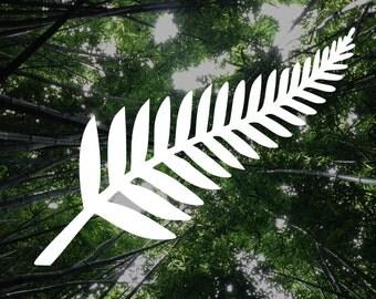 New Zealand Silver Fern Die-Cut Decal Car Window Wall Bumper Phone Laptop