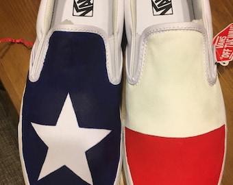 Texas Flag Toms or Vans