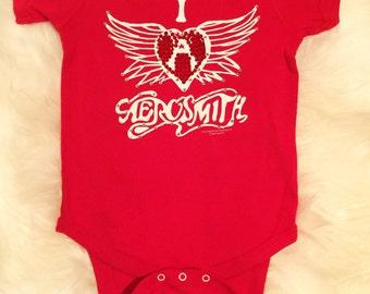 Custom Baby Aerosmith Onesie With Swarovski Detail