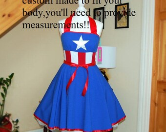 cosplay dress Captain America inspired dress ,MADE TO MEASURE!