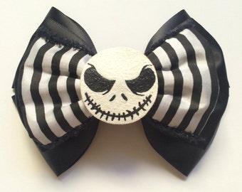 Pumpkin king bow hand painted