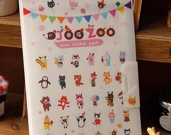 Autocollant Pack 8 feuilles/coréen livre Album/autocollant/Cute stickers d'animaux Album/planificateur Pack/autocollant autocollant livre