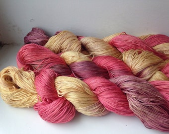 Hand-dyed pima cotton, 100grams, Autumn Leaves, 400 metres