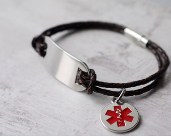 Men's Medical ID Bracelet - Personalized Medical Alert Bracelet